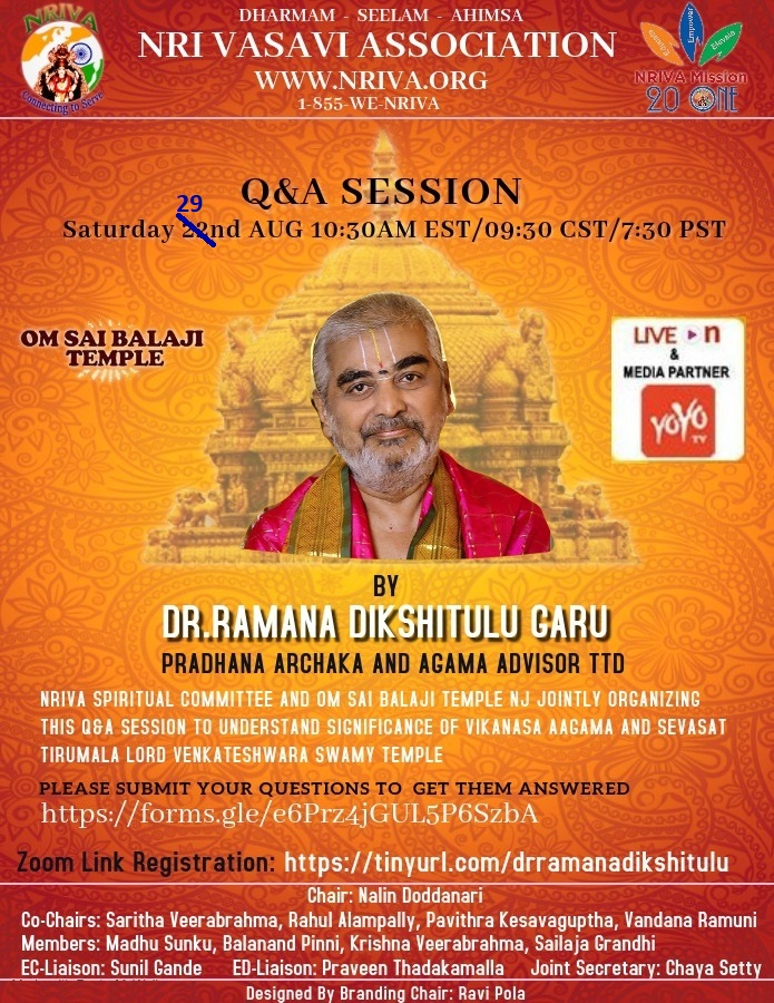 Q and A Session with Dr. Ramana Dikshitulu Garu