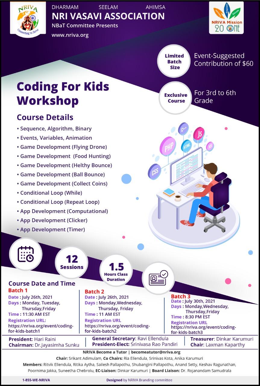 CODING FOR KIDS - WORKSHOP2