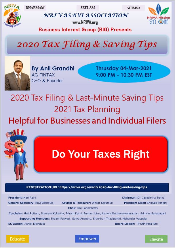 2020 Tax Filing and Saving Tips