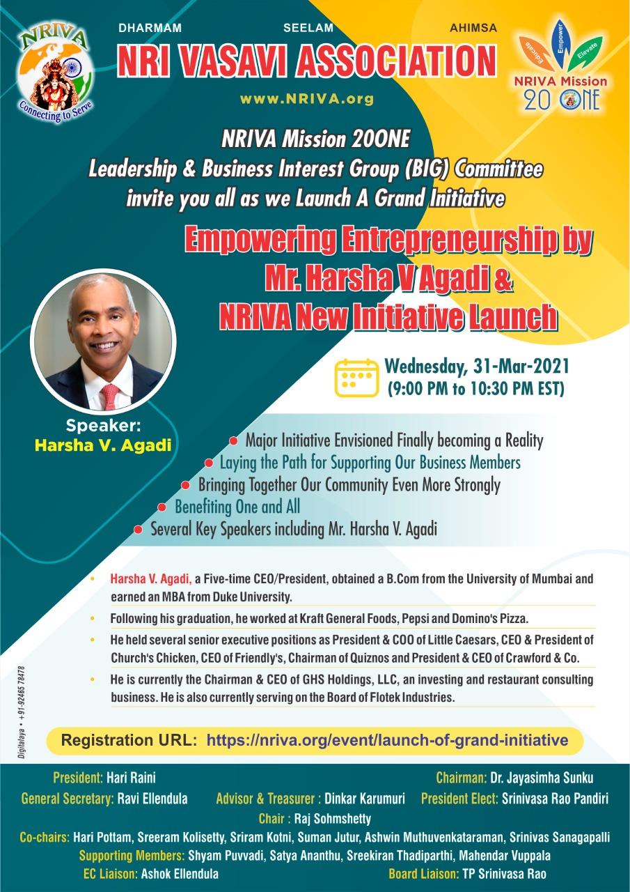 Empowering Entrepreneurship and NRIVA New Initiative Launch