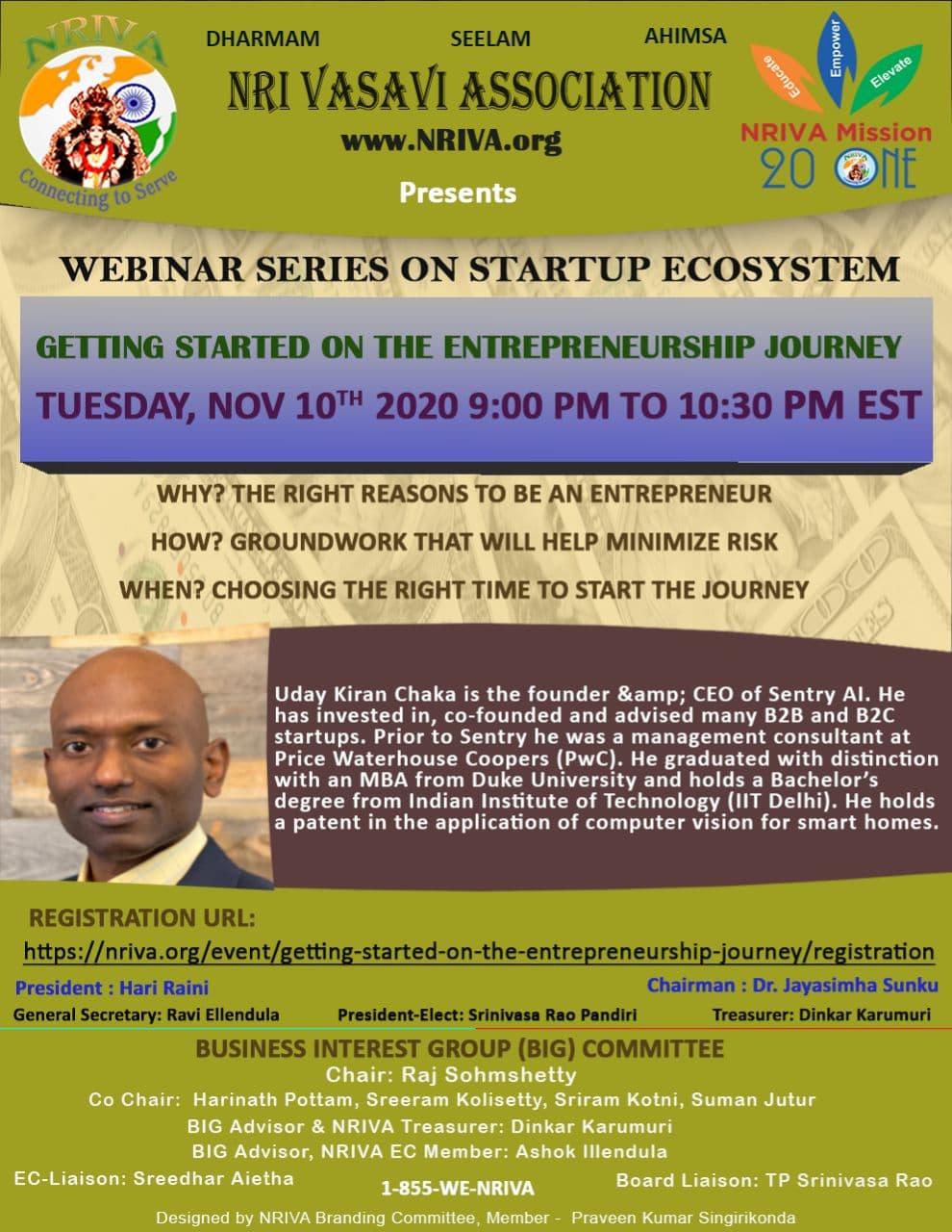 Getting Started on The Entrepreneurship Journey