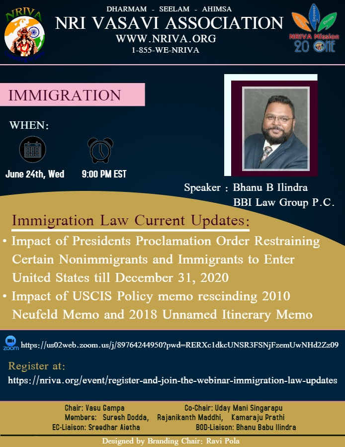Register and Join the Webinar – Immigration Law Updates