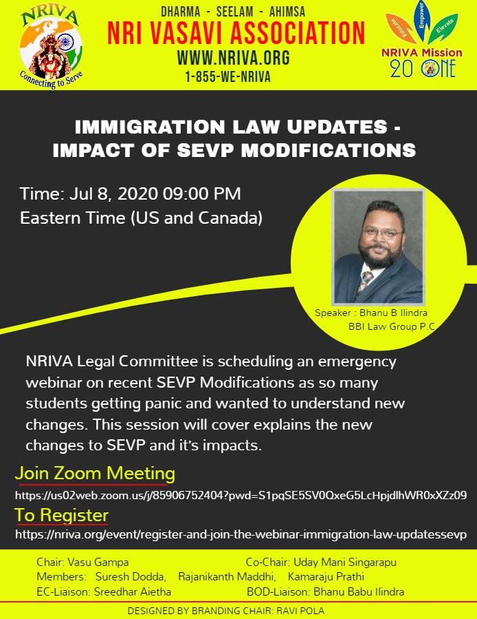 Register And Join The Webinar – Immigration Law Updates(SEVP)