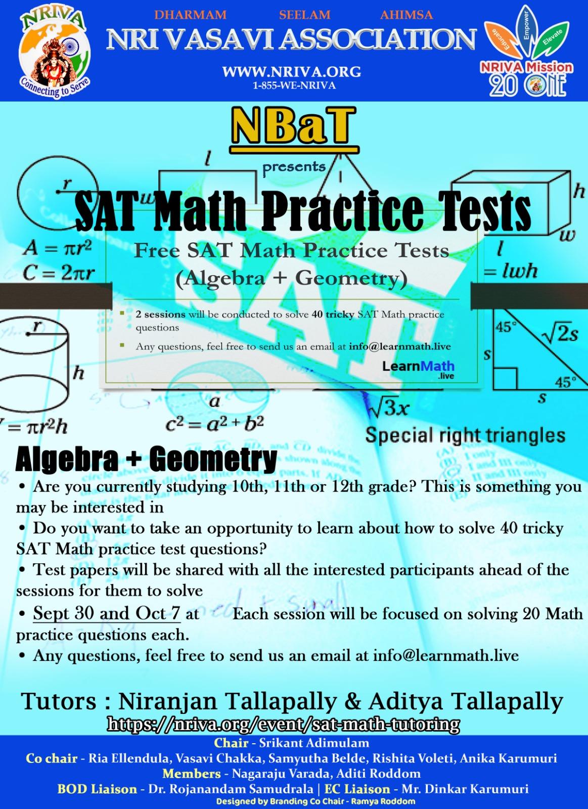 SAT Math Practice Tests