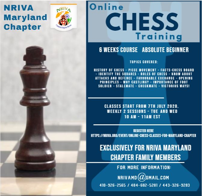 Online Chess Classes for Maryland Chapter