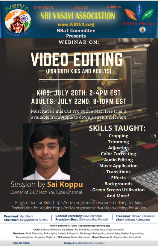 Video Editing for Adults