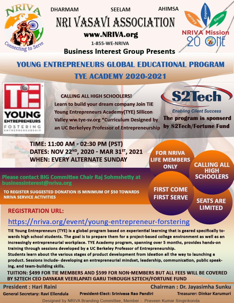 Young Entrepreneur Fostering