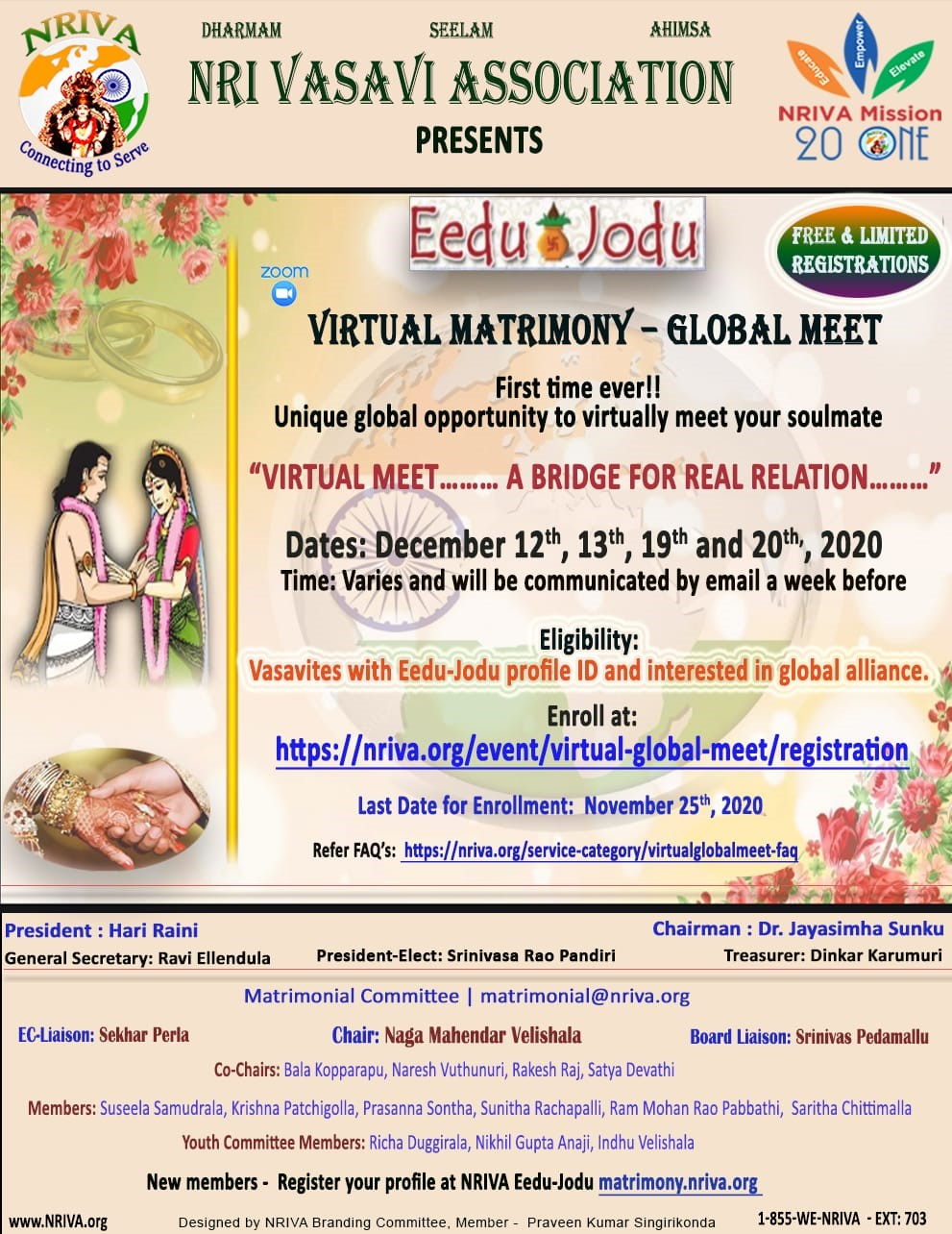 Virtual Matrimony-Global Meet