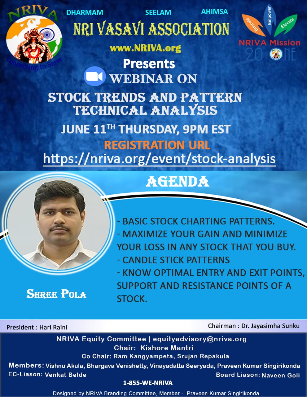 NRIVA Stock Trends/Patterns