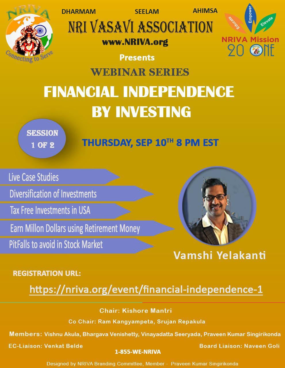 Financial Independence through Investing (Session I)