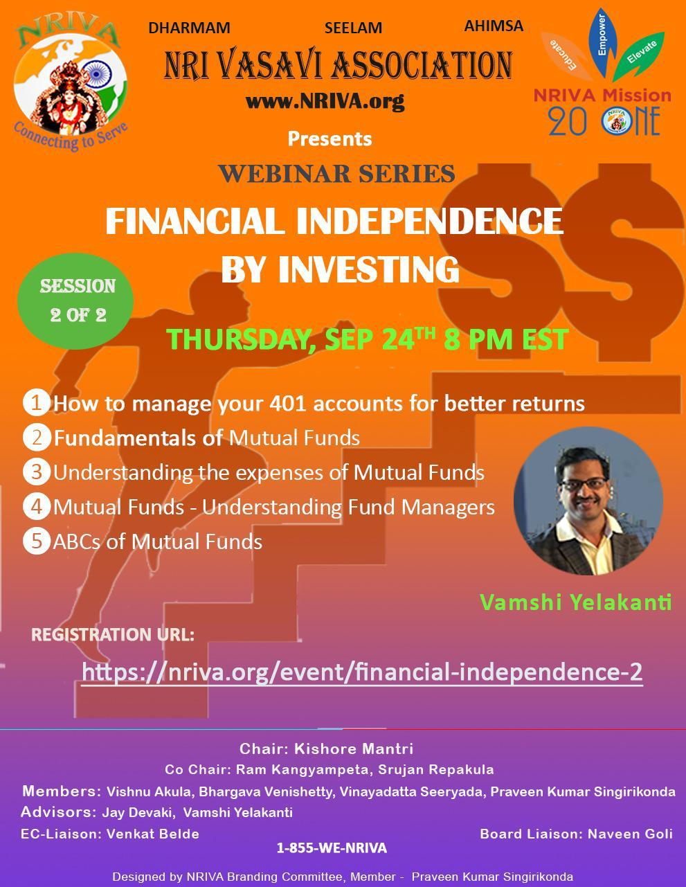 Financial Independence Through Investing (Session II)
