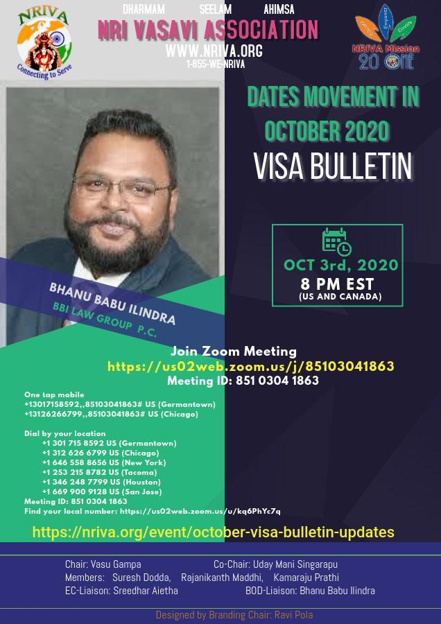 October 2020 Visa Bulletin Updates