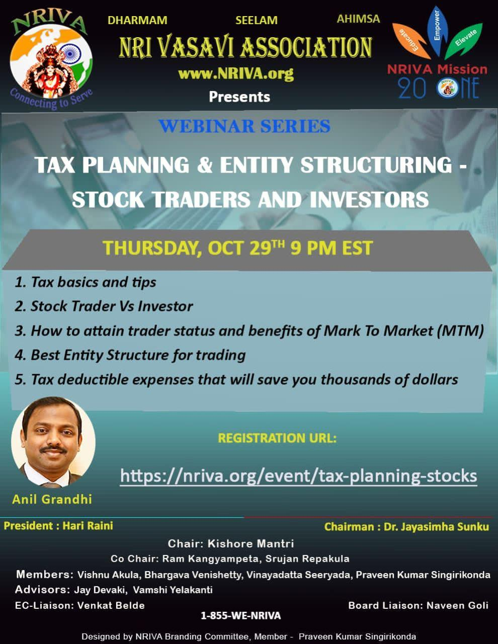 Tax Planning & Entity Structuring
