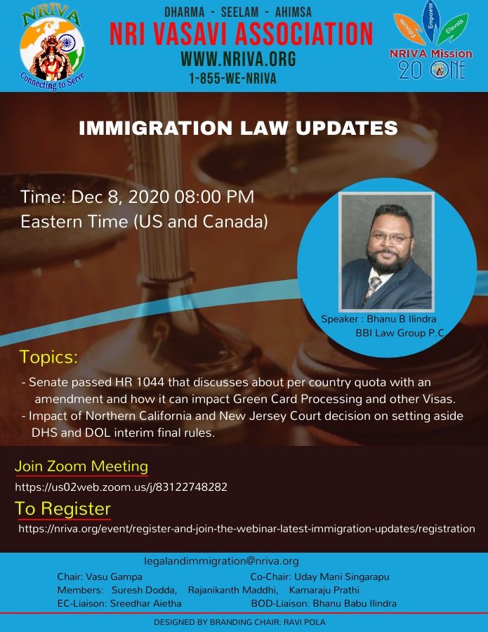 Register and Join the Webinar – Latest Immigration Updates