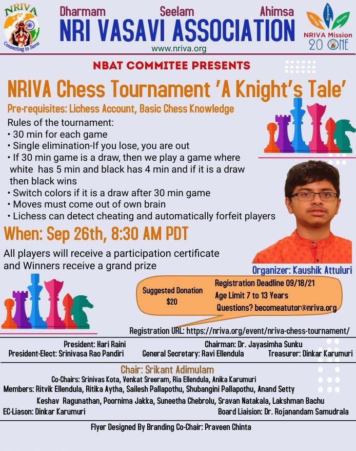 NRIVA Chess Tournament