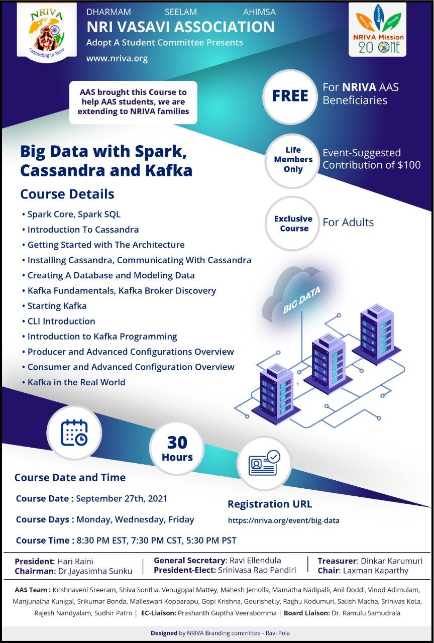Big Data with Spark, Cassandra and Kafka