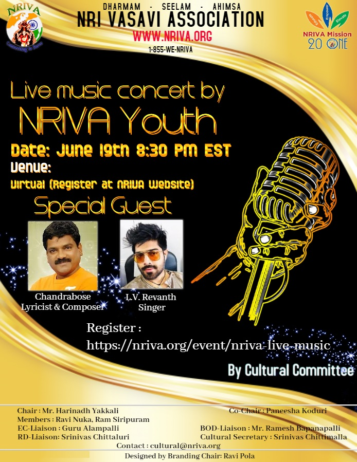 NRIVA Live Musical Concert by Local Talent